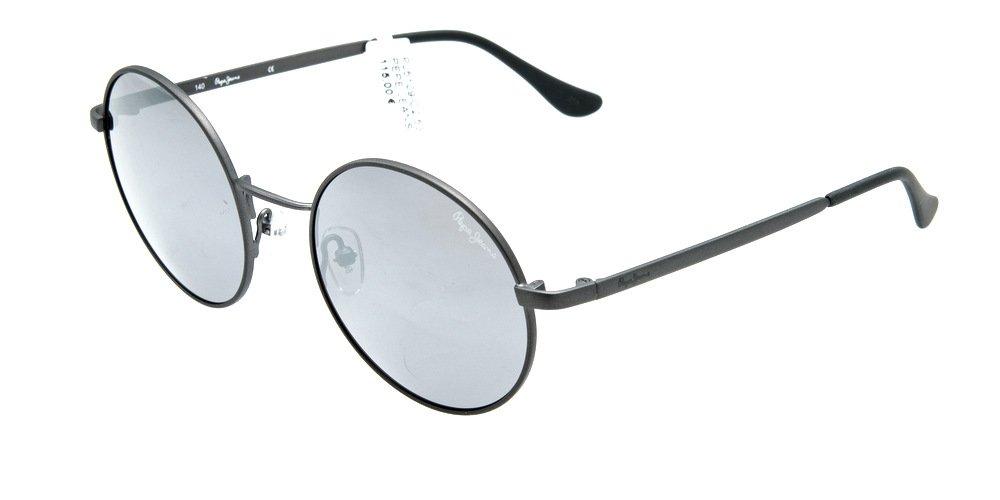 Sunglasses Pepe Jeans Cooper PJ5104 C3 Unisex Silver Round Silver Mirrored