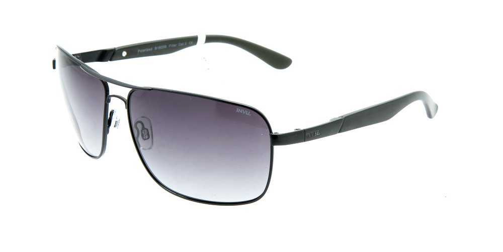 Sunglasses Invu INB1605B Matt Black/Dark Green Men Polarized