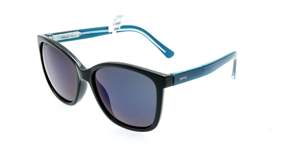 Sunglasses Invu T2517A BLUE Unisex Black Square Polarized