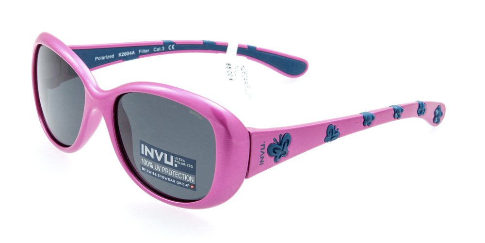 Sunglasses Invu K2604A FUCHSIA/BLUE Kid Fuchsia Square Polarized