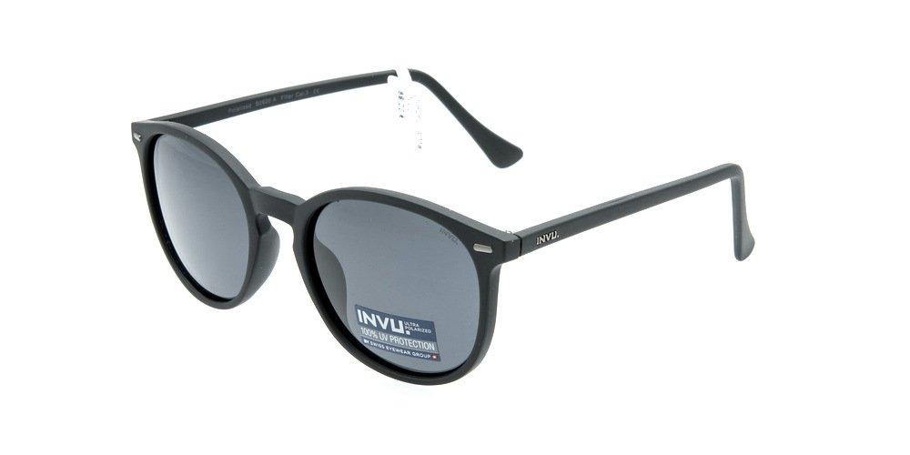 Sunglasses Invu INB2620A Matt Black Unisex Black Round