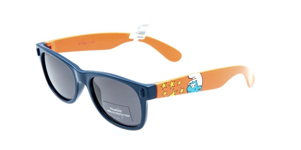Sunglasses Invu SMURFS X2596C NAVY Kid Blue Square Polarized