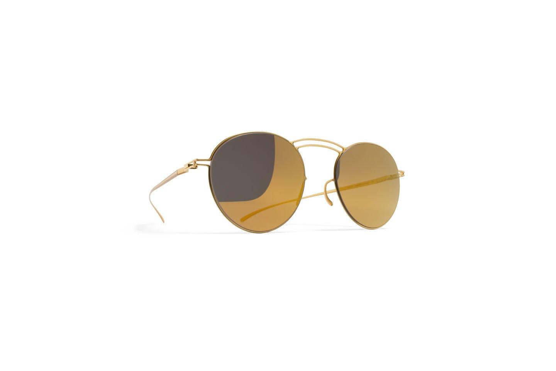Sunglasses Mykita Maison Margiela MMESSE011 E2/GOLD Unisex Gold Round Gold