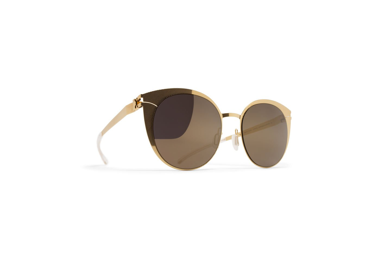 Sunglasses Mykita Decades Sun BOLDEWIN 254 Women Gold Hatch Cat-eye Gold