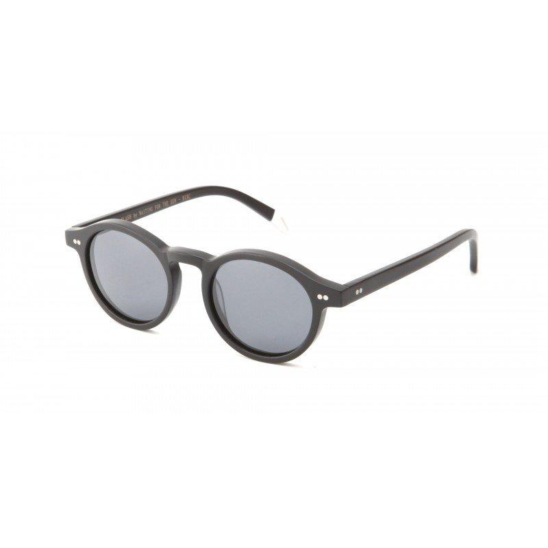 Sunglasses Waiting for the Sun Slash Collection DISC C2 Unisex Black Round