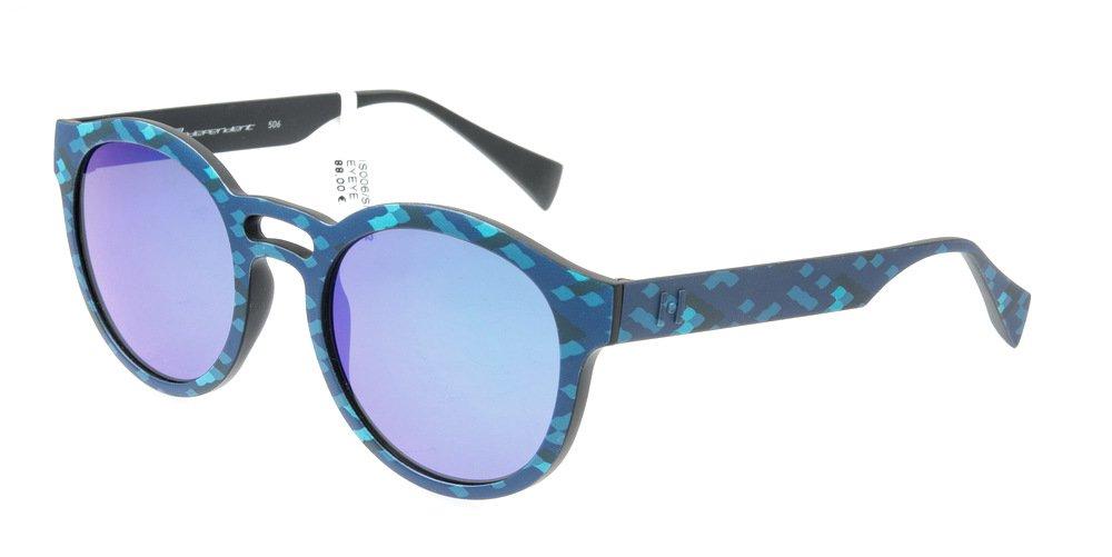 Sunglasses Eyeye IS006 SNK.022 Unisex Blue Round Blue Mirrored