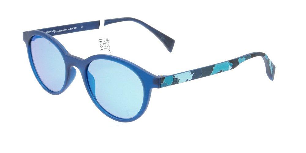 Sunglasses Eyeye IS030 MAO.027 Unisex Blue Round Blue Mirrored