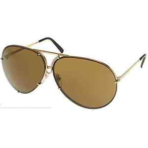 Sunglasses Porsche 8478 A Unisex Gold Aviator  with extra silver mirrored lenses