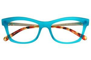 Eyeglasses Jono Hennessy 8371 899 Women Blue Square Clear