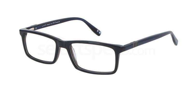 Eyeglasses Lapo LAAA044 01 Unisex Black Square
