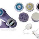 Sonic Facial Skin Care Cleansing Brush System plus pro mia - Purple