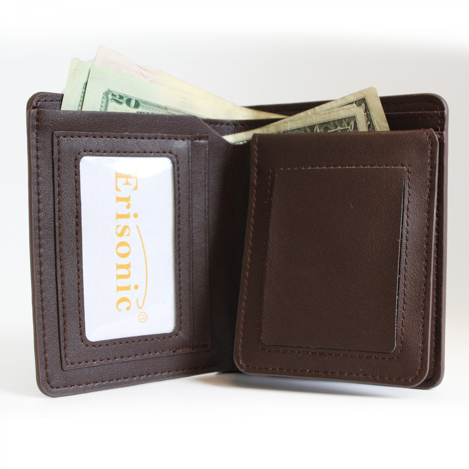 Erisonic Leather Smart Wallet Bluetooth Safe Wallet with app for men Never Loss your wallet