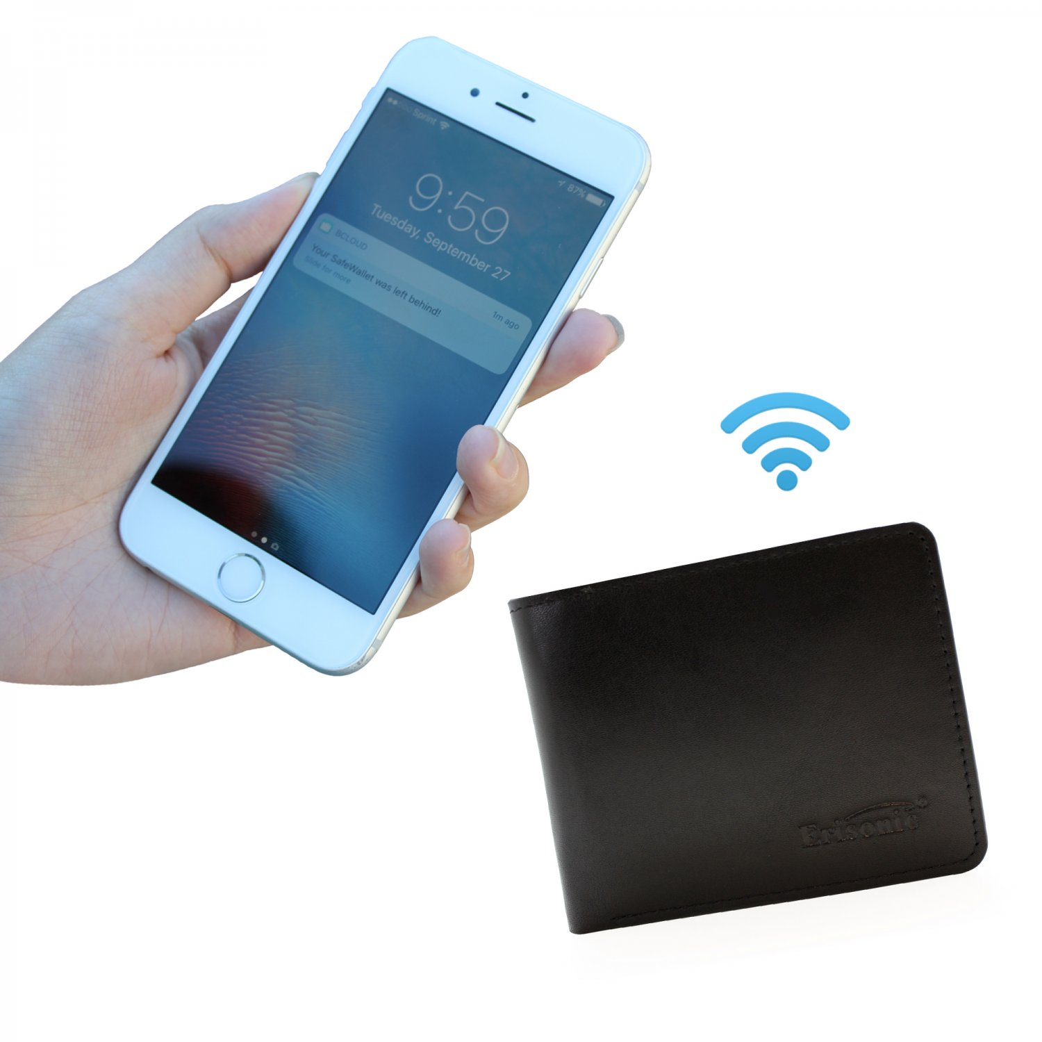 Best Leather Smart Wallet Bluetooth Wallet with Iphone/Android app anti-lost Fashion wallet