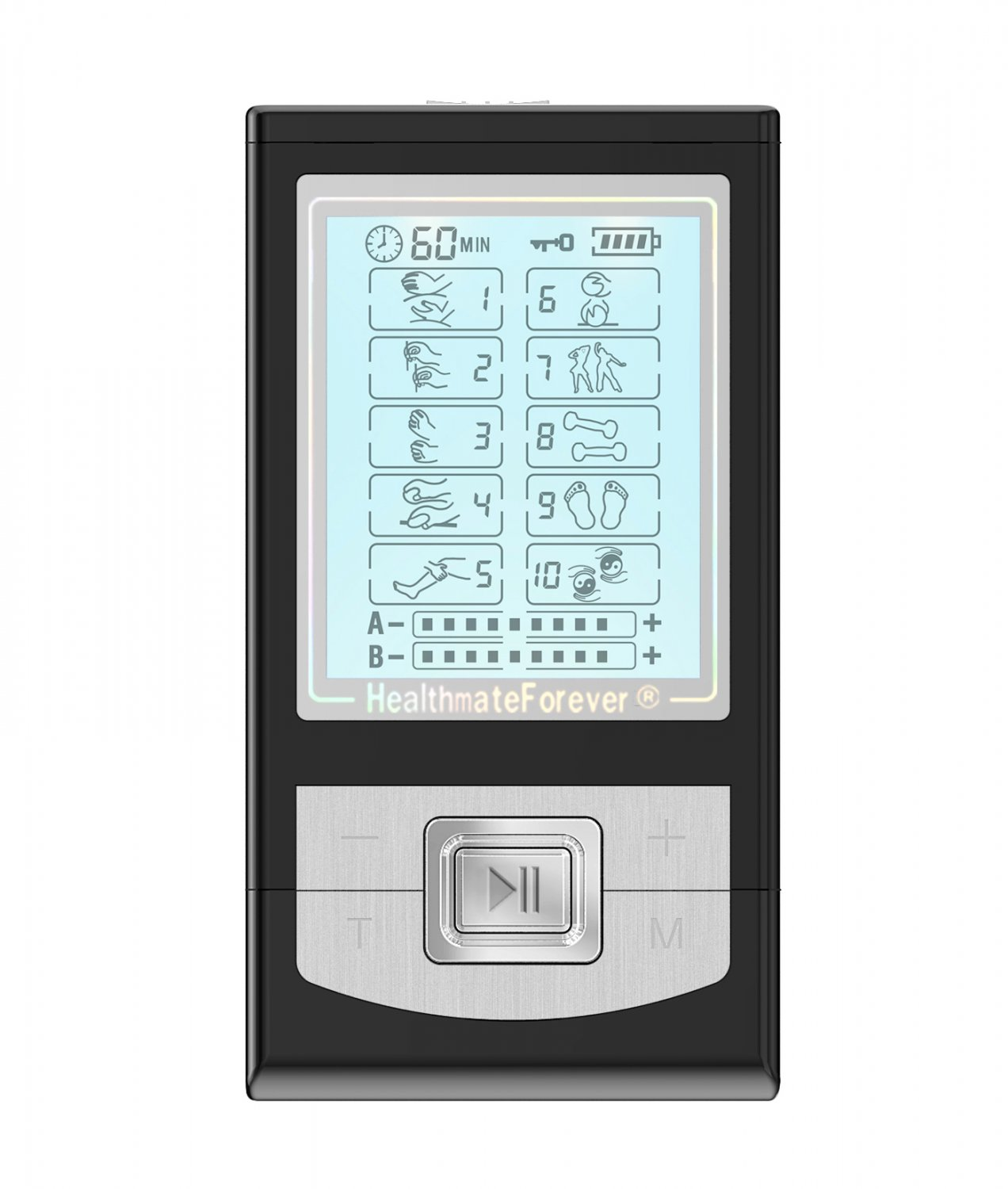 NK10AB HealthmateForever TENS Unit Electrical Muscle Stimulator Black
