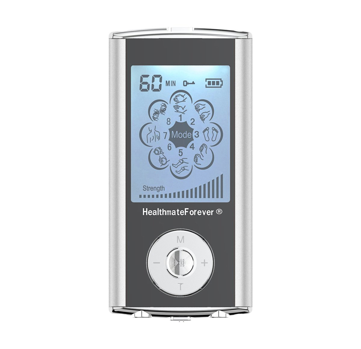 HM8ML HealthmateForever TENS Unit Electrical Muscle Stimulator Silver