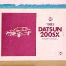 NEW 1983 Datsun Nissan 200SX Owners Manual
