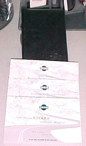 New 2000 Nissan Xterra Factory Owners Manual Set
