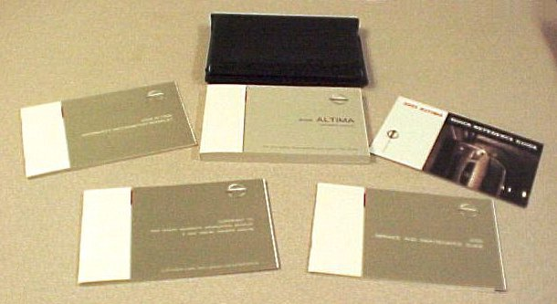 New 2005 Nissan Altima Factory Owners Manual Set