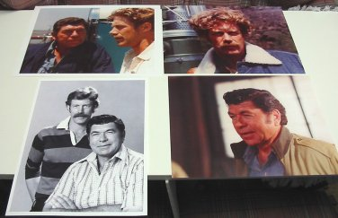 4 Photos of Claude Akins & Frank Converse from TV Series Movin' On