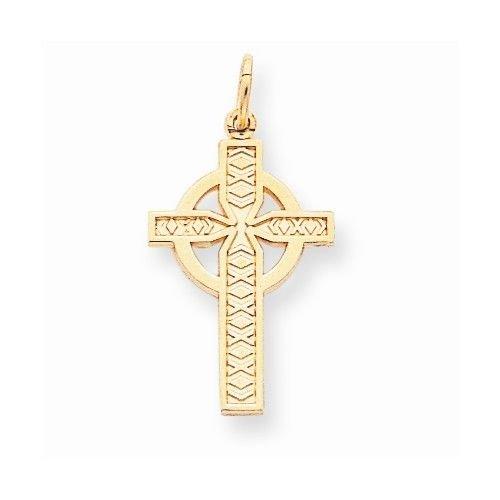 10K GOLD CELTIC CROSS CHARM / PENDANT (MEN/WOMEN)  RELIGIOUS JESUS
