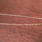 """10K YELLOW GOLD THIN SINGAPORE NECKLACE / PENDANT CHAIN  20""""  1.1 mm  1.1 grams"""