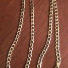"10K YELLOW GOLD CURB LINK CHAIN / NECKLACE  24""  5.25 mm  8.8 grams"