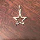 14K YELLOW GOLD DIAMOND CUT STAR  PENDANT CHARM - 0.6 GRAMS