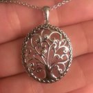 """ANTIQUED STERLING SILVER TREE OF LIFE CHARM/PENDANT & NECKLACE - 18"""""""