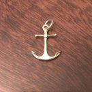 14K YELLOW GOLD SOLID ANCHOR CHARM PENDANT - 0.6 GRAMS