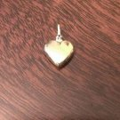 14K YELLOW GOLD SMALL PUFFED HEART CHARM  PENDANT - MADE IN ITALY