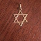 """14K YELLOW GOLD POLISHED STAR OF DAVID CHARM / PENDANT  RELIGIOUS -  0.8"""""""