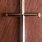 14K  YELLOW GOLD LARGE  POLISHED HOLLOW CROSS  CHARM / PENDANT-  2.1 GRAMS