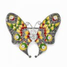 STERLING SILVER MARCASITE AND TOPAZ BUTTERFLY PIN ( BROACH / BROOCH/ BROOCHE)