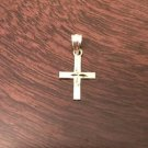 10K SOLID YELLOW GOLD SMALL CROSS  PENDANT/CHARM - 0.3  GRAMS