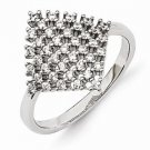 STERLING SILVER & CZ POLISHED RING - 85 STONES - SIZE 7