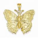 14K SOLID YELLOW GOLD  BUTTERFLY  CHARM /  PENDANT -  3.9 GRAMS