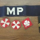 WW2 US Military patches (3) Military Police arm band and shoulder epaulet Army