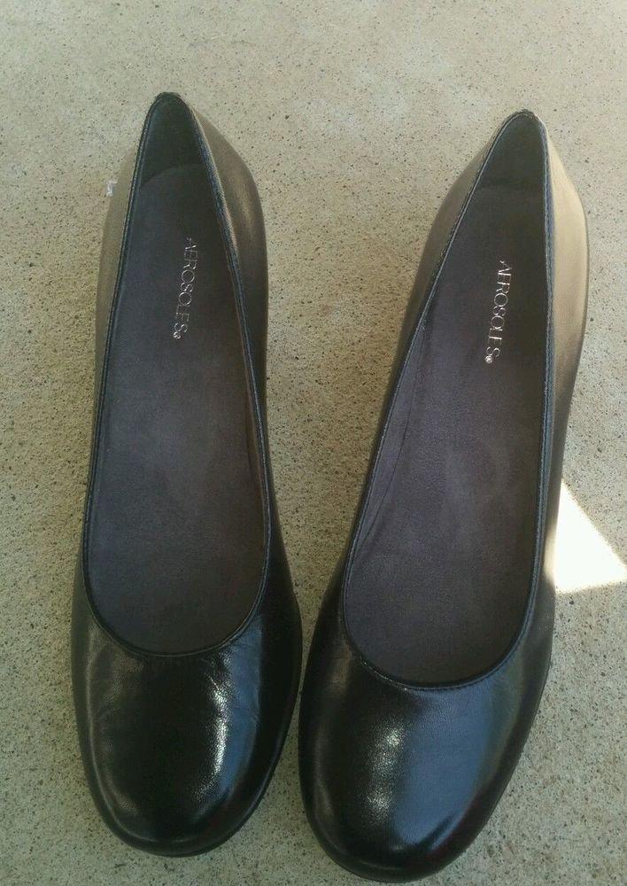 Aerosoles wise guy Womens shoes - Black,Leather,US Shoe Size (Women's) 8.5 Pumps