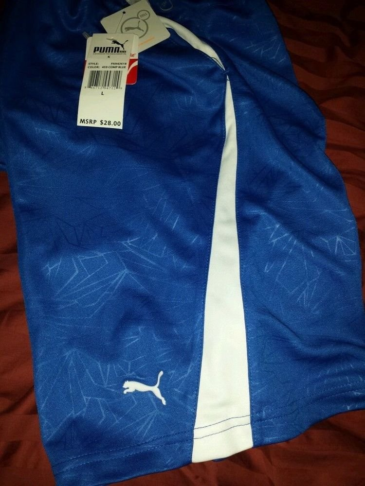 Puma Athletic shorts : Boys: Color blue Dry cell Size 5 Cotton Blend, Summer