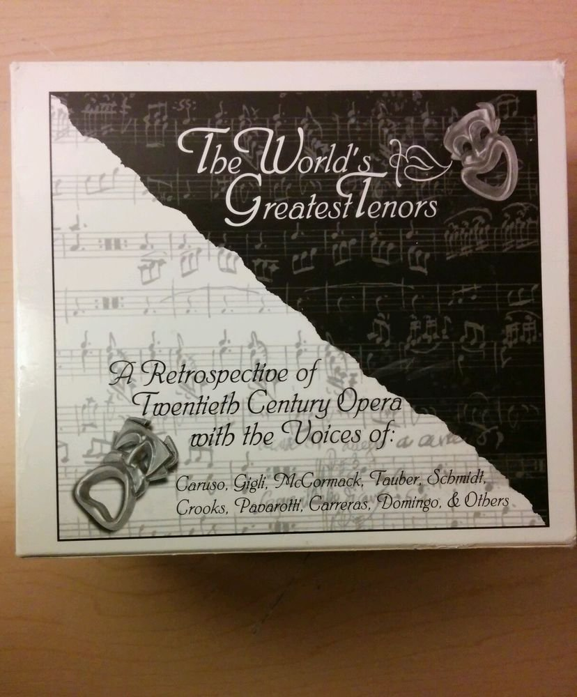 """The World's Greatest Tenors Box set (CD, 7 Discs, Eagle Records (USA) """"SAVE NOW"""""""