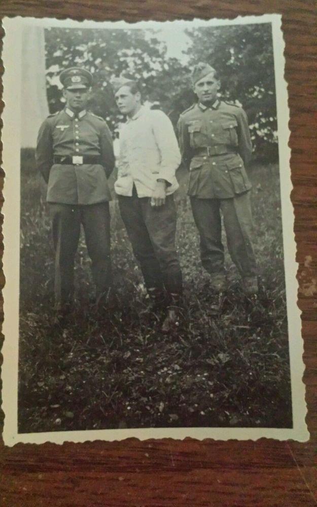 Original WWII German Soldier's Snapshot Photos of Soldiers in Uniform 1936-1943