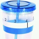 AquaTally Hydration Tracking Cup AquaTallymn, Blue, Plastic and Water Bottle