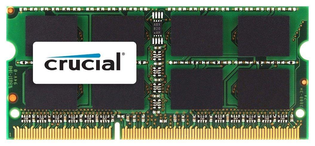 Crucial 8GB Single DDR3/DDR3L 1600 MT/s (PC3-12800) CL11 SODIMM Memory