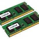 Crucial 8GB Kit (4GBx2) DDR3/DDR3L 1600 MT/s (PC3-12800) CL11 204-Pin SODIMM Memory
