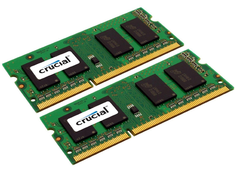 Crucial 16GB Kit (8GBx2) DDR3/DDR3L-1600 MHz (PC3-12800) CL11 204-Pin SODIMM Memory