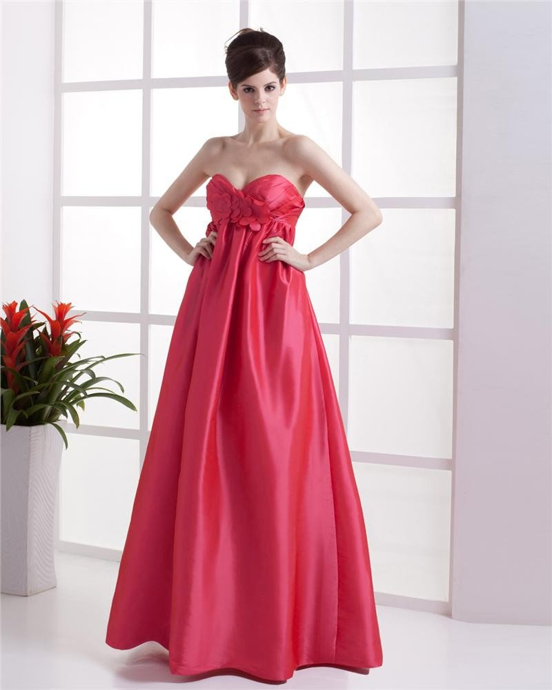 Empire Sweetheart Floor-length Taffeta Bridesmaid Dress
