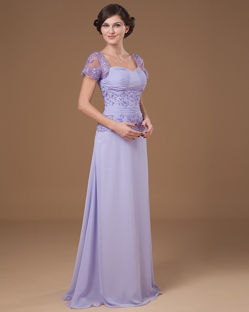 Absorbing Sweetheart Floor Length Chiffon Beading Mothers of Bride Special Guests Dress