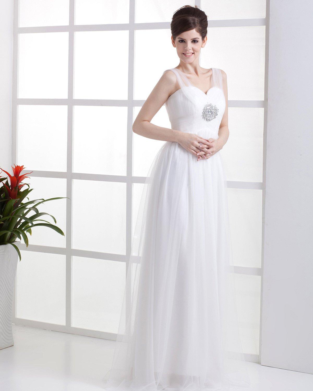 Sweetheart Neckline Empire Bridal Gowns Wedding Dress