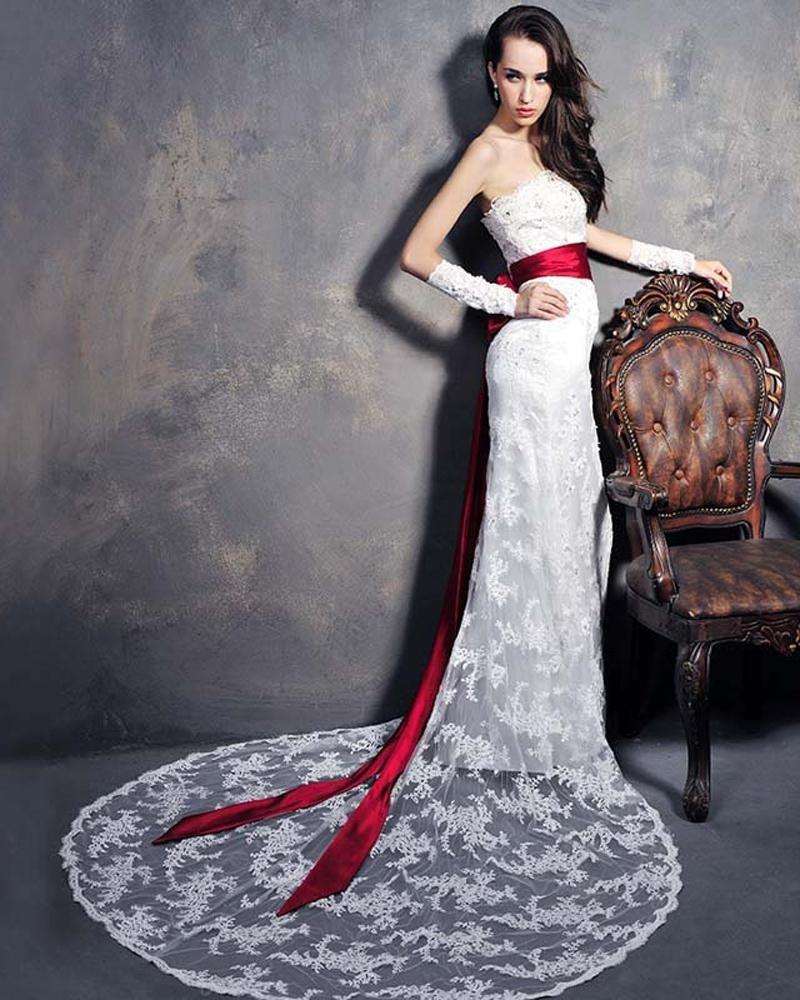 Bra lace fishtail sexy bride wedding dress