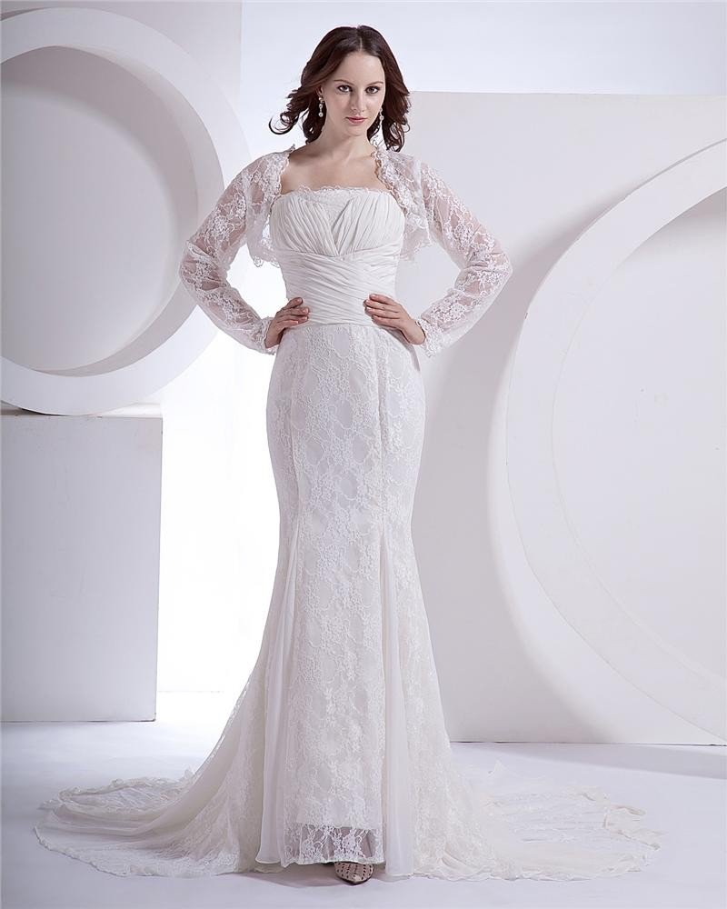 Lace Court Mermaid Bridal Gown Wedding Dress